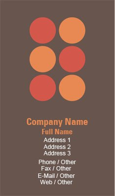 Orange Polka Dots Business Card Template